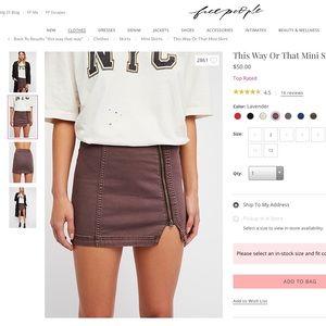 Free People Skirts - Free people this way/that way mini skirt